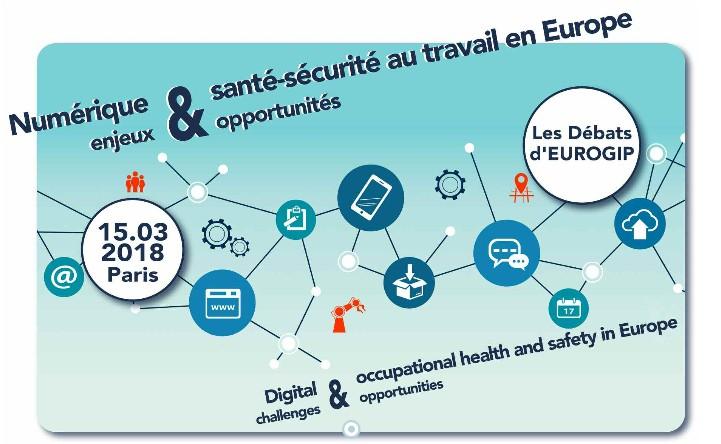"""Débats D'EUROGIP Sur """"Numérique Et Santé-sécurité Au Travail En Europe – Enjeux Et Opportunités"""", 15 Mars 2018"""