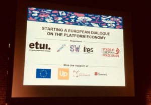 restitution sharers and workers - European dialogue on the platform economy - Shares & Workers