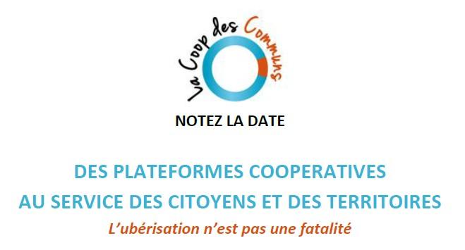 Forum Des Plateformes Coopératives,  Coop Des Communs, Le 11 Octobre